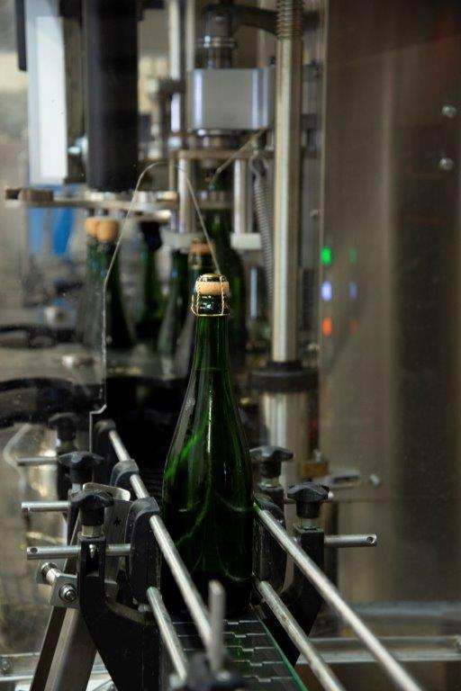 Sparkling wine bottling line